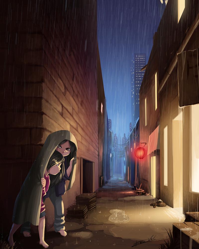 Rainy Night by Kare-Valgon