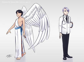Always by your side character designs by Kare-Valgon