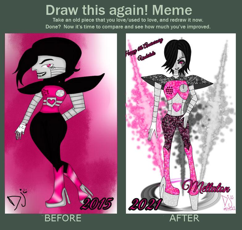 Mettaton Draw this again meme