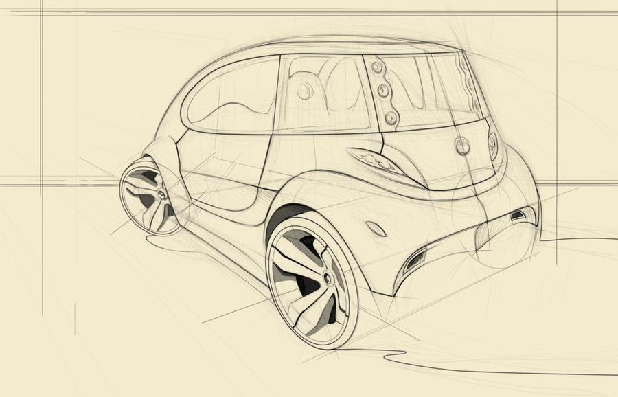 hybrid car sketch 2 back by Nico4blood on DeviantArt