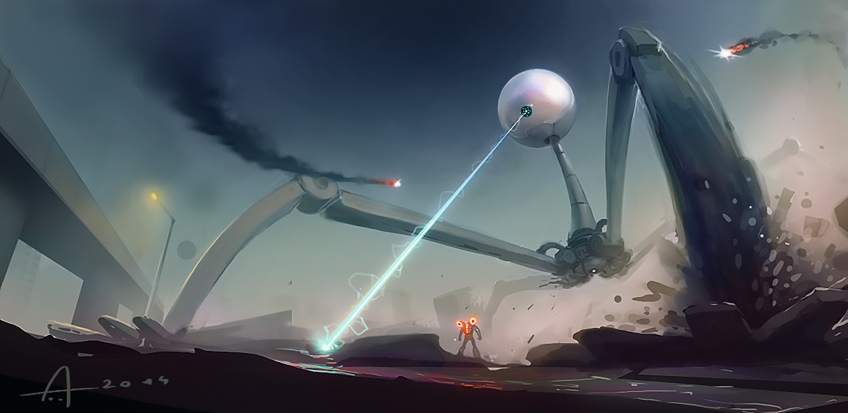 Invading Robot by Nico4blood
