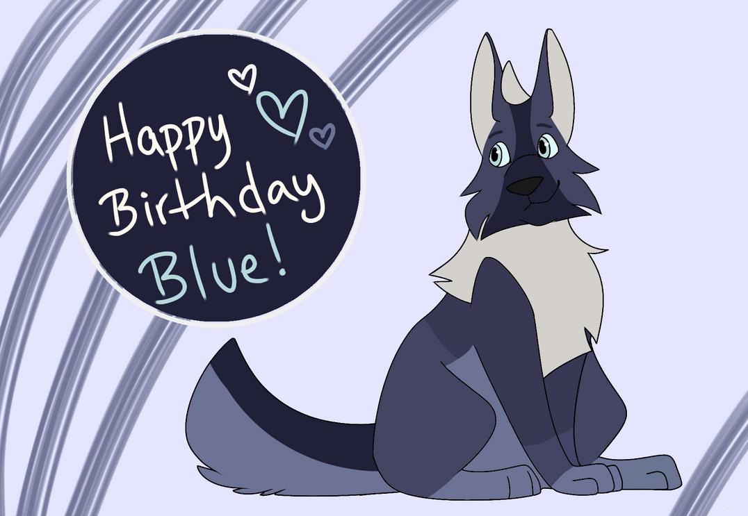 Happy Birthday BlueWHowl by MapleDrizzle