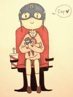 Cap you're my hero! by ganderp