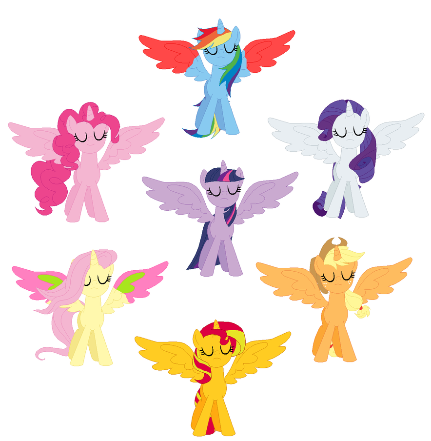 Alicorn Mane 7 By Awesome992 On DeviantArt