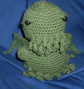 Crocheted Cthulhu by HookedonPlushies