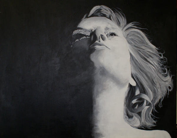 grey scale acrylic before oil