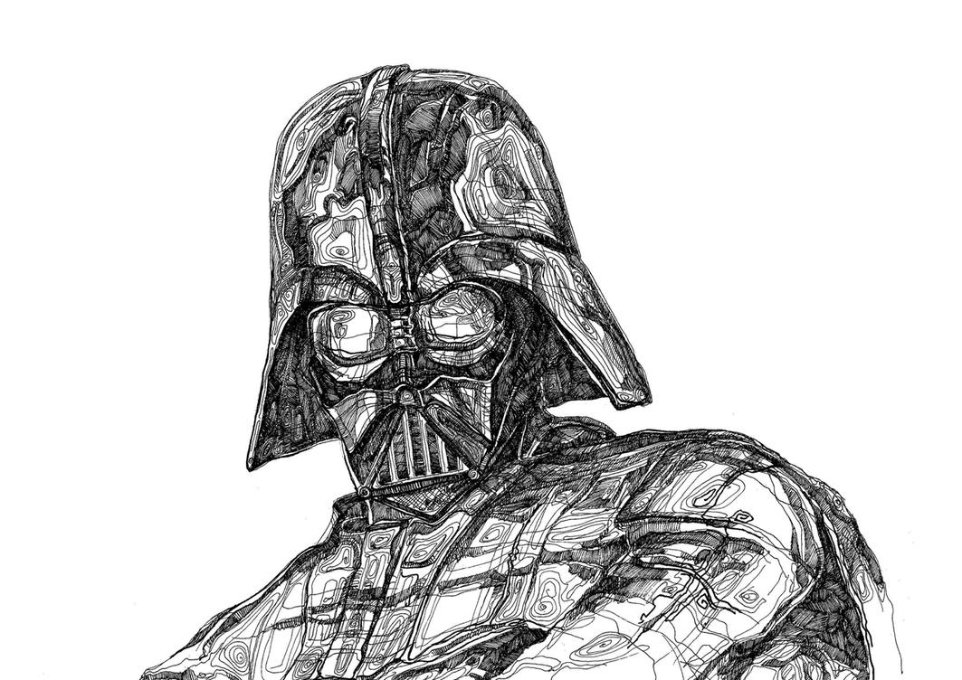 Darth Vader Sketch by inscifi on DeviantArt