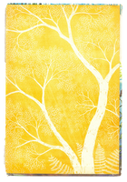 Paper texture 'yellow tree' | PNG by mercurycode