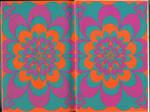 Paper texture: 60s/70s pattern, sharp colors