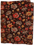 Flower pattern on old fabric | PNG