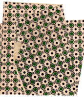 Green dots and ornaments paper texture   PNG by mercurycode