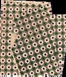 Green dots and ornaments paper texture | PNG