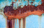 Marbled rust on blue metal by mercurycode