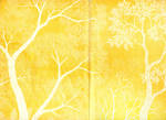 Paper texture 'yellow tree' - double page