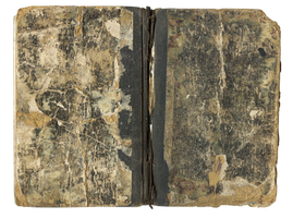 Antique stained book cover II