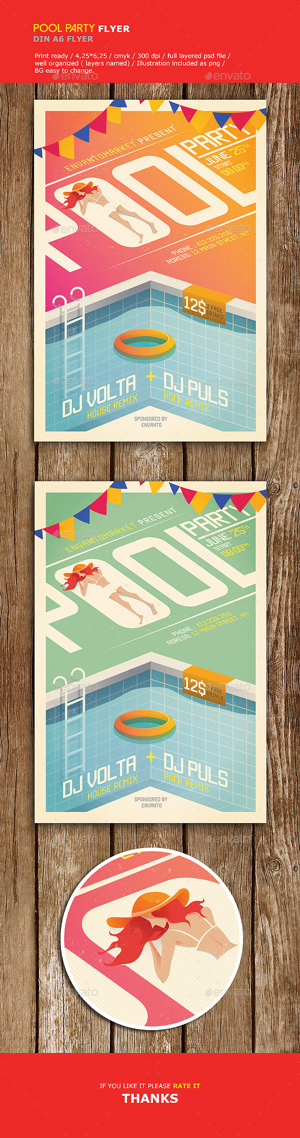 pool party flyer by firmacomdesign on deviantart