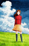 A Girl in the Grassland