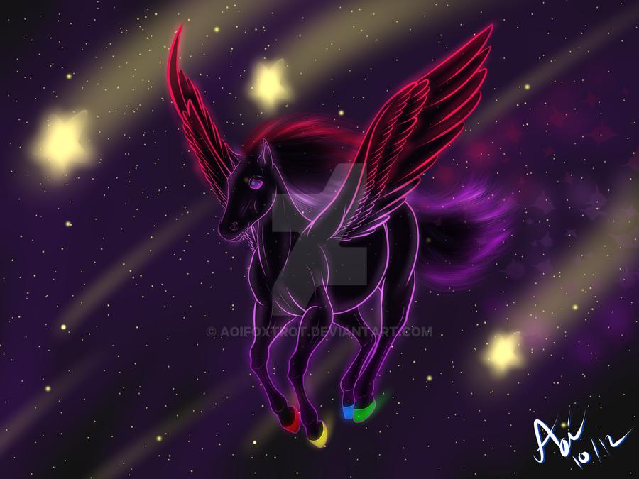 Neon Pegasus by AoiFoxtrot