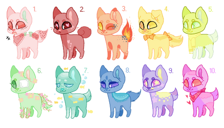 Rainbow pups adopt batch (CLOSED)