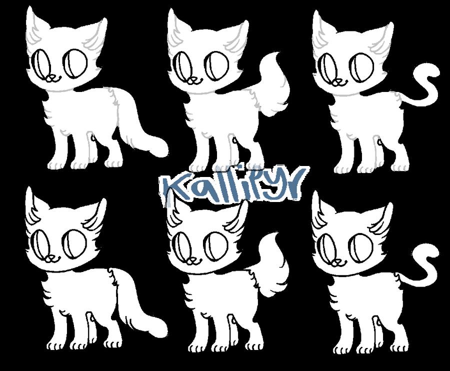 F2U kitteh base~ by kallipyr