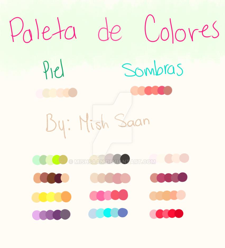 Paleta de colores by MishSaan on DeviantArt