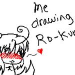Sketching Ro-kun on Dsi by BloodDeathSama