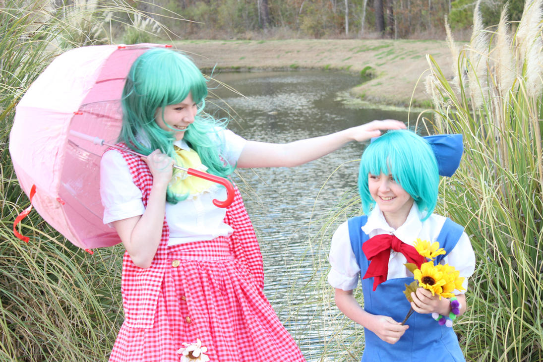 Cirno and Yuuka by Alucardalina