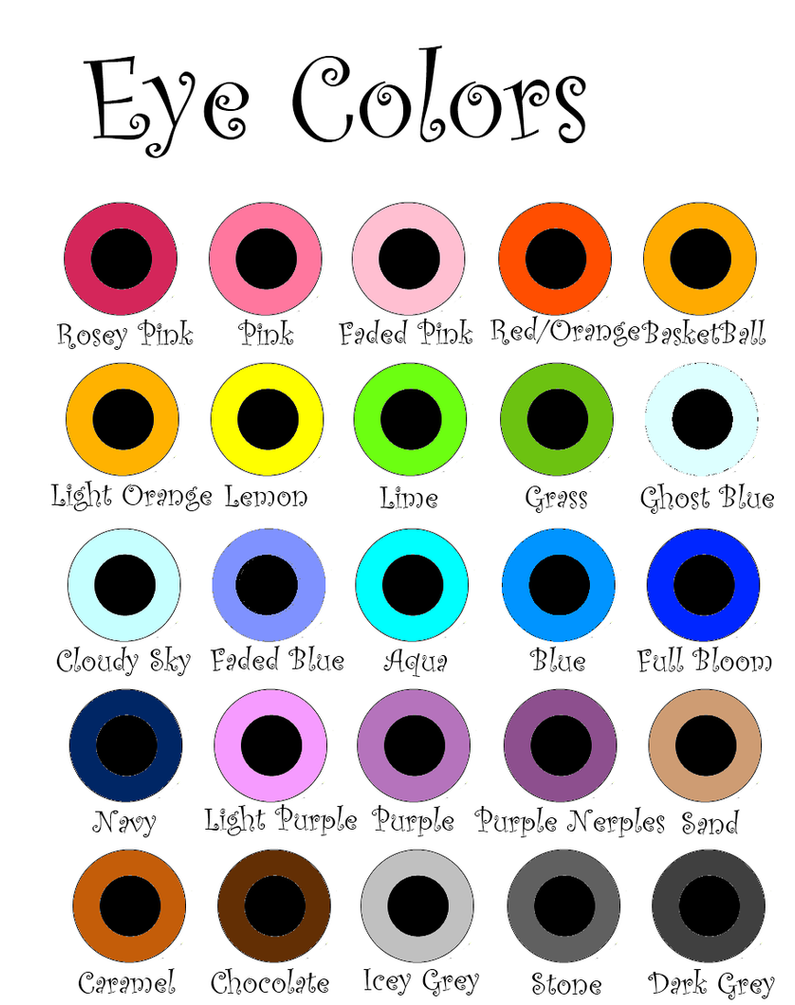 Eye Colors by EXBP on DeviantArt