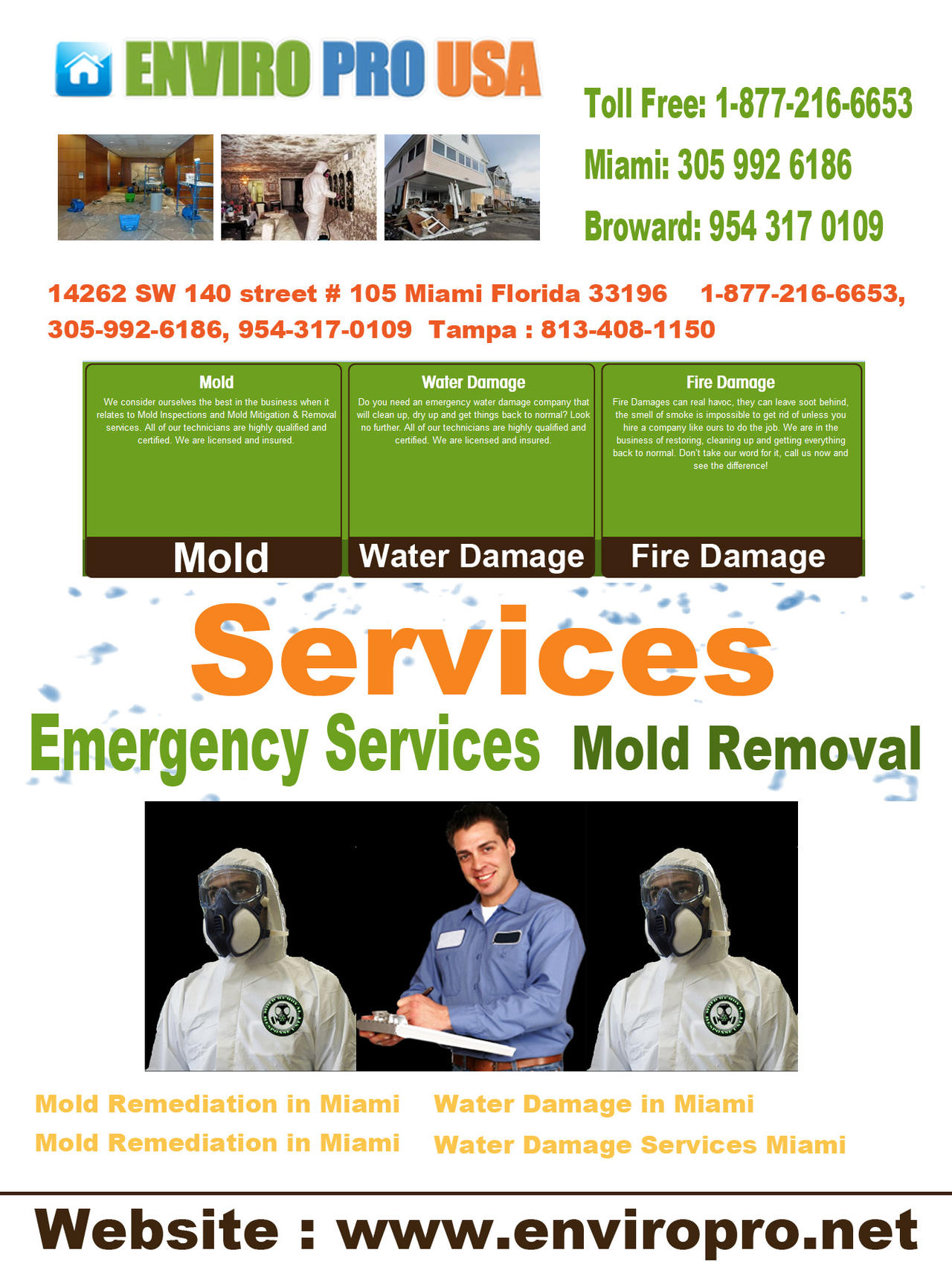 Water Damage Solutions in Miami
