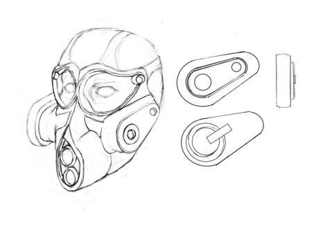 Random gasmask design
