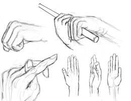 hand/finger sketches