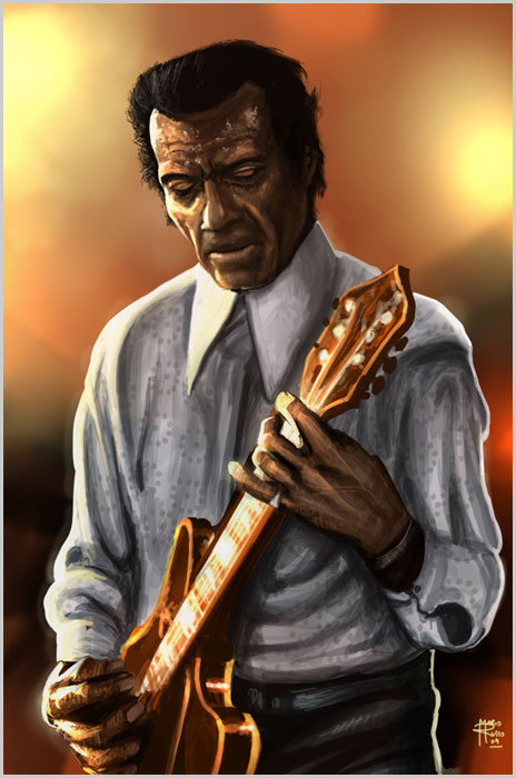 Chuck Berry Speedpaint by theRusso