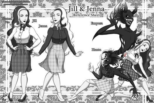 Jill and Jenna - Reference Sheet 1/?