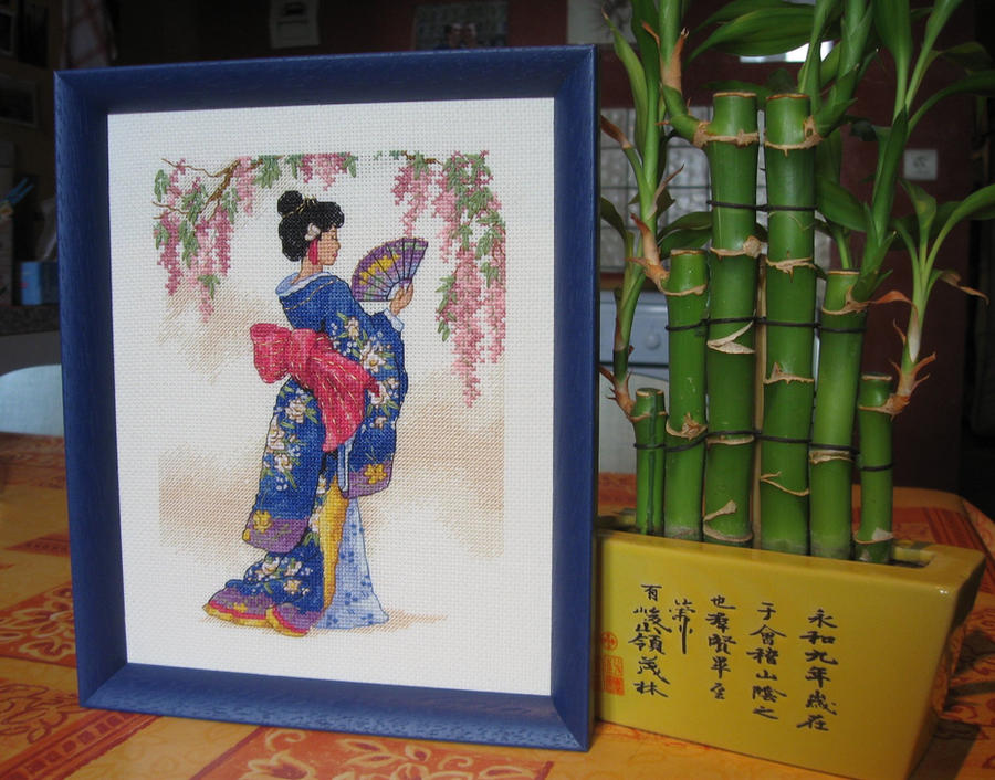 Geisha stitch work - Framed by Santian69