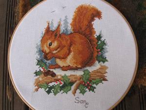 Squirrel Cross Stitch by Santian69
