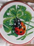 Ladybug in cross stitch