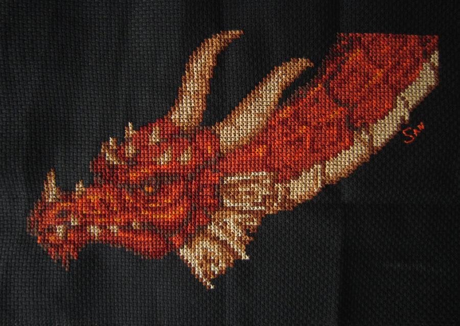 Dragon cross stitch