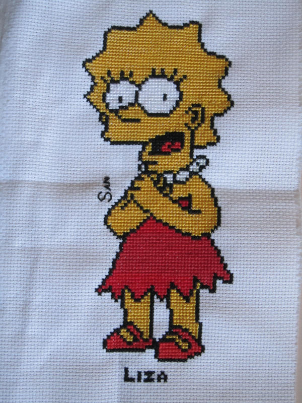 Liza Simpson Cross Stitch by Santian69