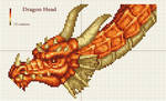 Dragon head x-stitch pattern