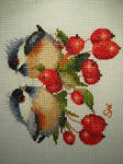 Berry Chick Chat cross-stitch