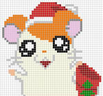 Hamtaro x-stitch pattern