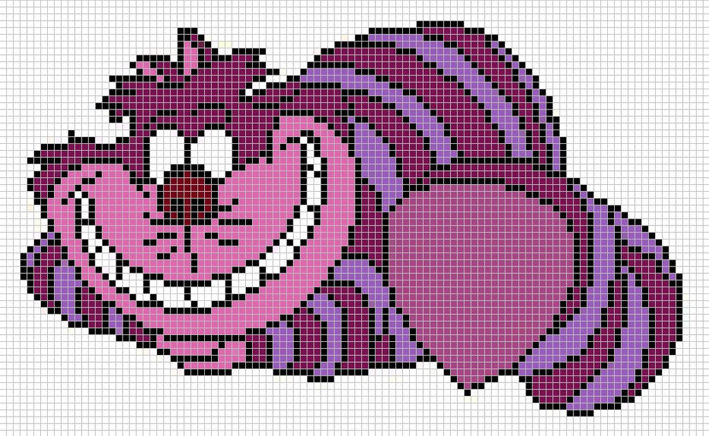 Cheshire cat pattern by Santian69