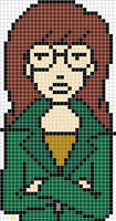 Daria cross stitch pattern