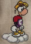 Rayman cross stitch