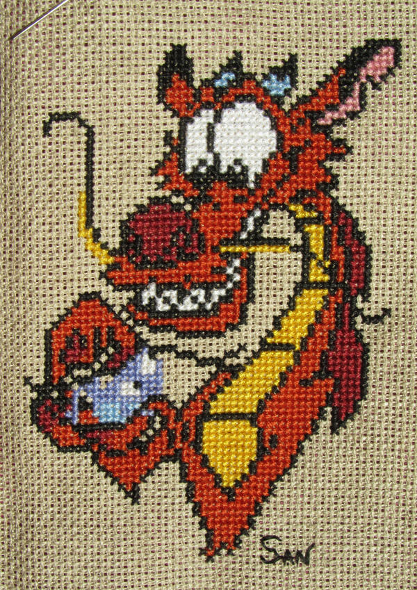 Mushu cross stitch by Santian69