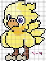 Chocobo x-stitch pattern by Santian69