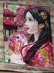 Asian Princess tapestry canvas