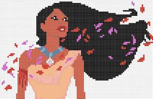 Pocahontas x-stitch / hama bead pattern by Santian69
