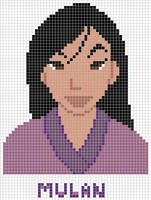 Mulan cross stitch pattern by Santian69