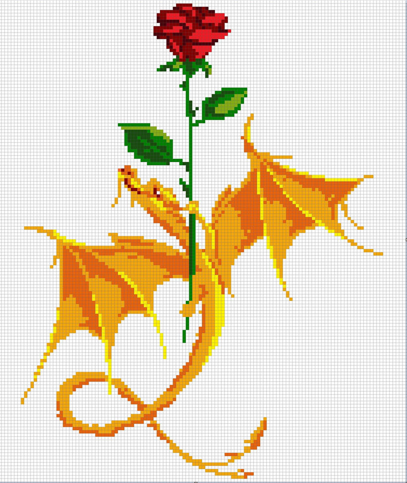 Rose And Dragon Pattern By Santian69 On Deviantart